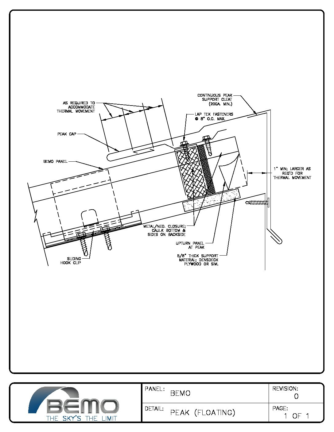 Project Detail Drawings • Bemo USA